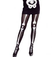 Black Skeleton Tights - Plus Size
